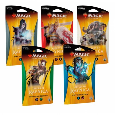 Boosters Magic the Gathering Guilds of Ravnica - Theme Boosters - Lot de 5
