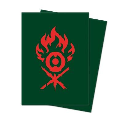 Protèges Cartes illustrées Accessoires Pour Cartes Les Guildes de Ravnica - 100 Pochettes - Clans Gruul