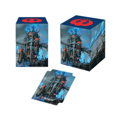 Boites de rangement illustrées Accessoires Pour Cartes Les Guildes de Ravnica - Deck Box 100+ - Ligue d'Izzet