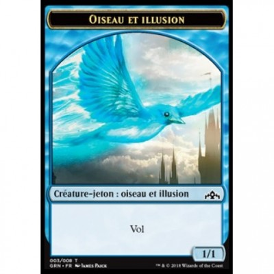 Tokens Magic Magic the Gathering Jeton - Les Guildes de Ravnica - (03/08) Oiseau et Illusion