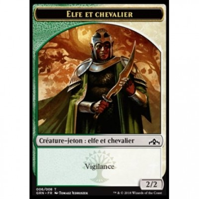 Tokens Magic Magic the Gathering Jeton - Les Guildes de Ravnica - (06/08) Elfe et Chevalier