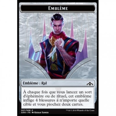 Token Magic Magic the Gathering Jeton - Les Guildes de Ravnica - (07/08) Emblème Ral, vice-roi d'Izzet