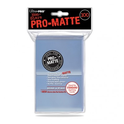 Protèges Cartes  100 pochettes - Pro Matte - Clear