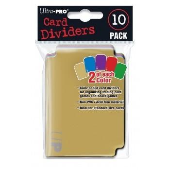 Boites de Rangements  Card Dividers - 10 Séparateurs - 2 par couleur