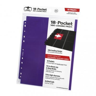 Classeurs et Portfolios  Lot De 10 Feuilles - 18 Cases - Side Load - Violet
