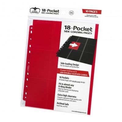 Feuilles de Classeurs Lot De 10 Feuilles - 18 Cases - Side Load - Rouge
