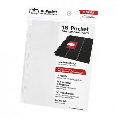 Feuilles de Classeurs Lot De 10 Feuilles - 18 Cases - Side Load - Blanc
