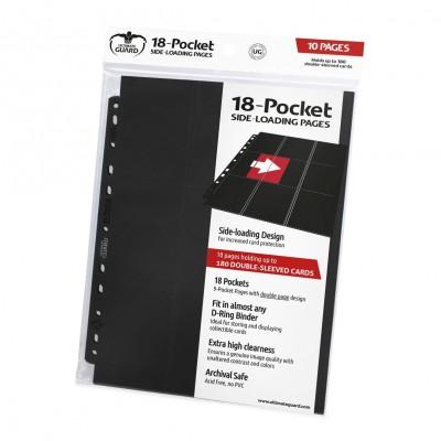 Classeurs et Portfolios Lot De 10 Feuilles - 18 Cases - Side Load - Noir