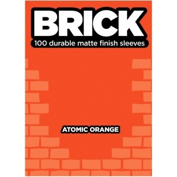 Protèges Cartes  100 pochettes - Brick Sleeves - Atomic Orange