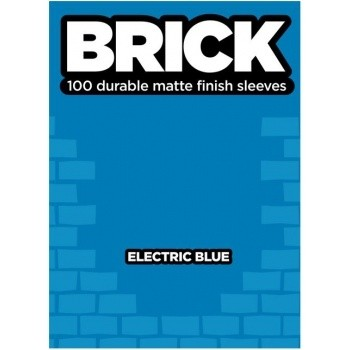 Protèges Cartes  100 pochettes - Brick Sleeves - Electric Blue