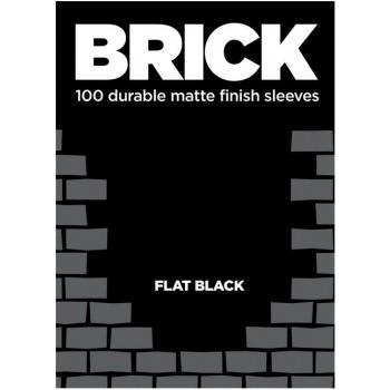 Protèges Cartes  100 pochettes - Brick Sleeves - Flat Black