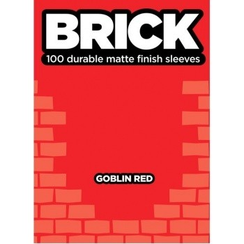 Protèges Cartes  100 pochettes - Brick Sleeves - Goblin Red