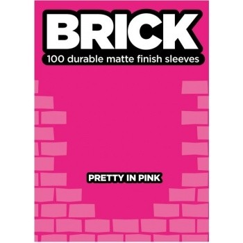 Protèges Cartes  100 pochettes - Brick Sleeves - Pretty in Pink