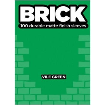 Protèges Cartes  100 pochettes - Brick Sleeves - Vile Green