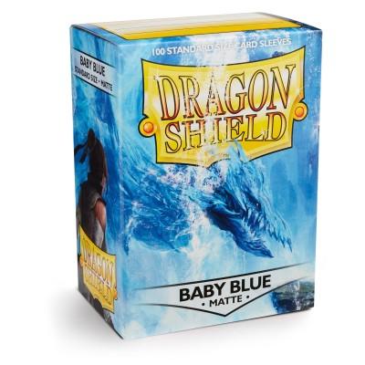 Protèges Cartes 100 pochettes Illustrées - Matte Baby Blue