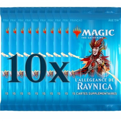 Boosters Magic the Gathering L'Allégeance de Ravnica - Lot de 10
