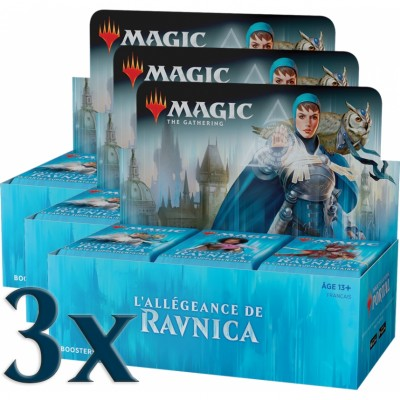 Boites de Boosters Magic the Gathering L'Allégeance de Ravnica - Lot de 3