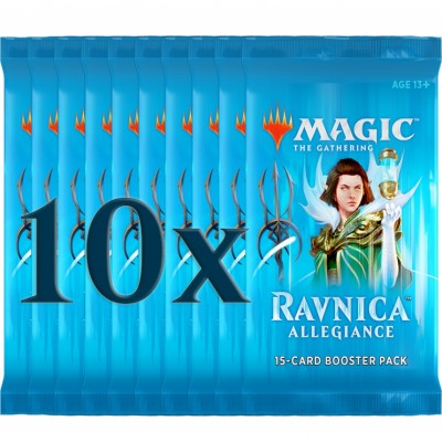 Boosters Magic the Gathering Ravnica Allegiance - Lot de 10