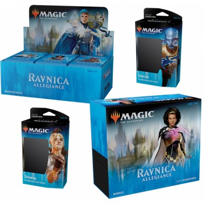Offres Spéciales Magic the Gathering Ravnica Allegiance  - Mega Pack : Boite VO + 2 Decks VO + Bundle VO