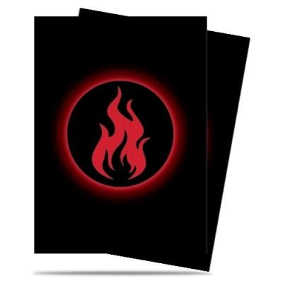 Protèges Cartes illustrées  50 Pochettes - Matte - Absolute Iconic - Fire