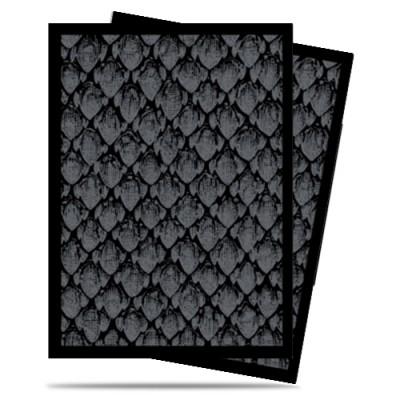Protèges Cartes illustrées  50 Pochettes - Dragonhide Black