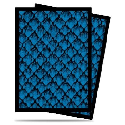 Protèges Cartes illustrées 50 Pochettes - Dragonhide Blue
