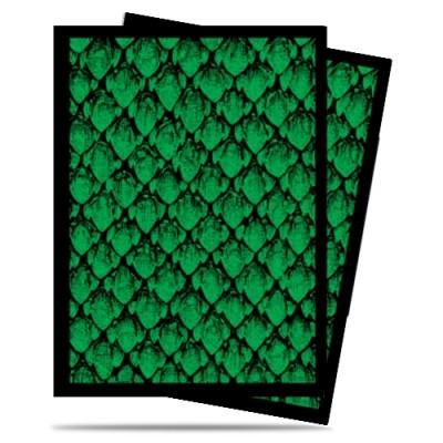 Protèges Cartes illustrées  50 Pochettes - Dragonhide Green