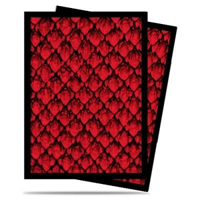 Protèges Cartes illustrées  50 Pochettes - Dragonhide Red