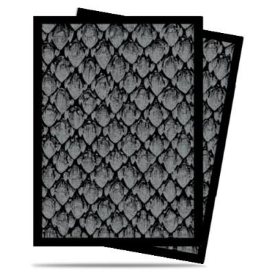 Protèges Cartes illustrées  50 Pochettes - Dragonhide Silver