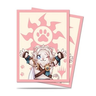 Protèges Cartes illustrées 100 Pochettes - Chibi Collection - Ajani - Lion Hug