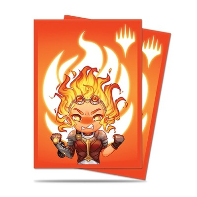Protèges Cartes illustrées  100 Pochettes - Chibi Collection - Chandra - Maximum Power