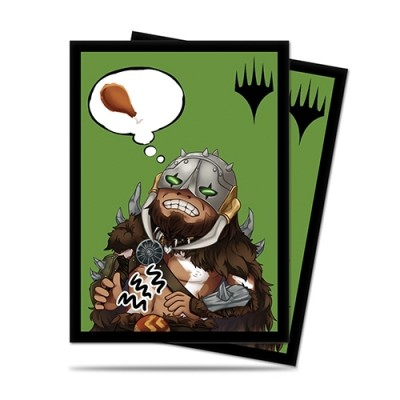 Protèges Cartes illustrées Magic the Gathering 100 Pochettes - Chibi Collection - Garruk - I'm Starving!