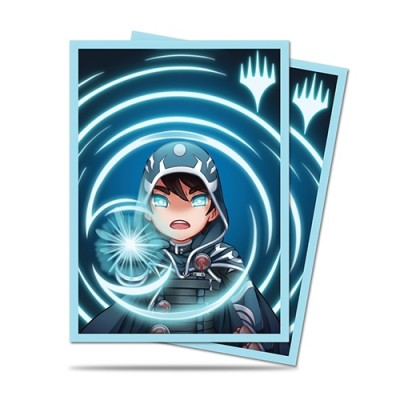 Protèges Cartes illustrées Magic the Gathering 100 Pochettes - Chibi Collection - Jace - Mystic
