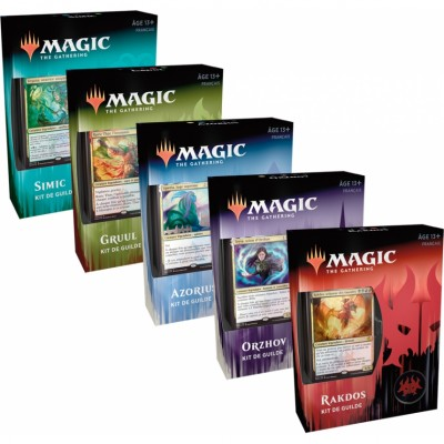 Coffrets Magic the Gathering L'Allégeance de Ravnica - Kits de Guilde - Lot de 5