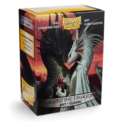 Protèges Cartes illustrées 100 pochettes - Valentine Dragons