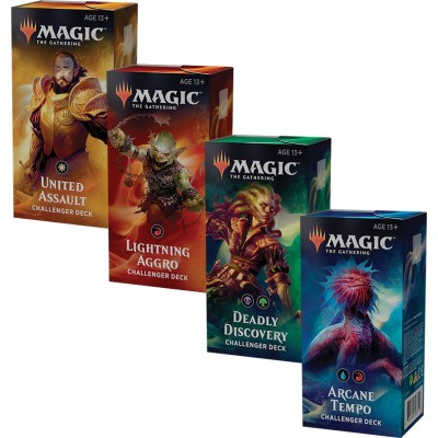 Decks Magic the Gathering Challenger Deck 2019 - Lot des 4 Decks