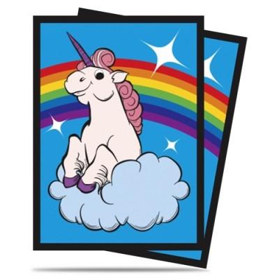 Protèges Cartes illustrées 50 Pochettes - Rainbow Unicorn