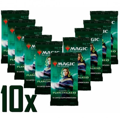 Boosters Magic the Gathering La Guerre des Planeswalkers - Lot de 10