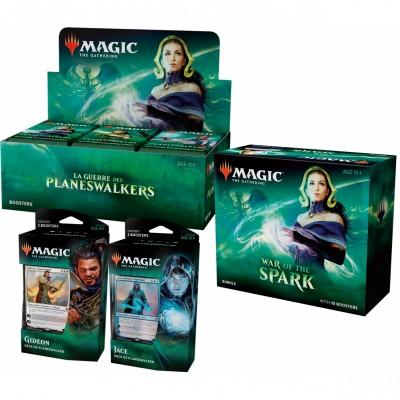 Offres Spéciales Magic the Gathering La Guerre des Planeswalkers - Mega Pack : Boite VF + 2 Decks VF + Bundle VO