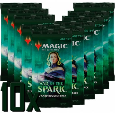 Boosters Magic the Gathering War of the Spark - Lot de 10