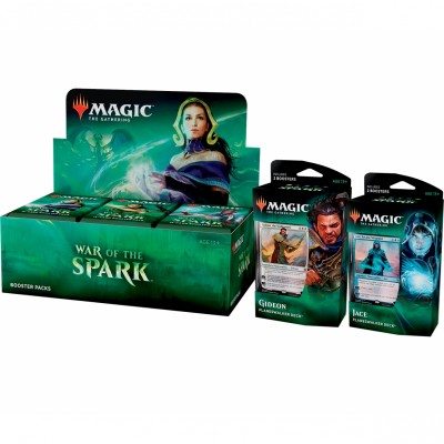Offres Spéciales Magic the Gathering War of the Spark - Super Pack : Boite VO + 2 Decks VO