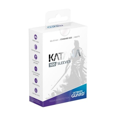 Protèges Cartes 100 Pochettes - Katana - Transparent