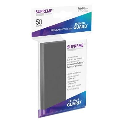 Protèges Cartes 50 Pochettes - Supreme UX - Gris Foncé
