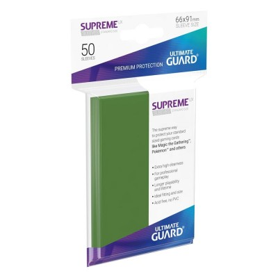 Protèges Cartes  50 Pochettes - Supreme UX - Vert