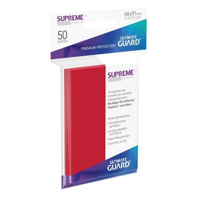 Protèges Cartes  50 Pochettes - Supreme UX - Rouge
