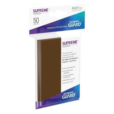 Protèges Cartes  50 Pochettes - Supreme UX - Marron