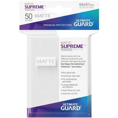 Protèges Cartes  50 Pochettes - Supreme UX - Blanc Matte