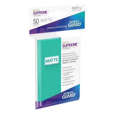 Protèges Cartes 50 Pochettes - Supreme UX - Turquoise Matte