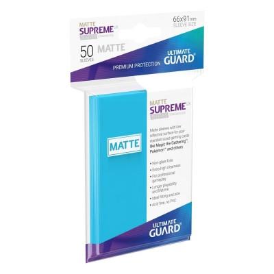 Protèges Cartes 50 Pochettes - Supreme UX - Bleu Clair Matte