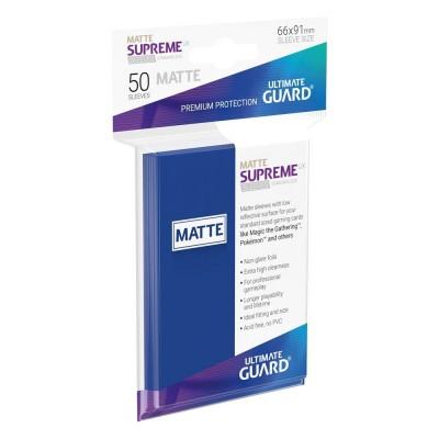Protèges Cartes  50 Pochettes - Supreme UX - Bleu Matte